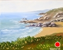 "At the Bay - Northern Calfiornia Coast Oil Painting by California Artist Mark Webster by Mark Webster Oil ~ 8"" x 10"""