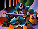 """The Sitar Player - Giclee Print on Stretched Canvas by Mark Webster Gliclee Print ~ 9"""" x 12"""""""