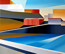 "Abstract Canary Islands Acrylic Painting - 2 Calle de la Vica - Mark Webster by Mark Webster Acrylic ~ 24"" x 20"""