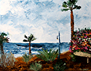 "Mark Webster - Canary Islands Palette Knife Acrylic Landscape Painting by Mark Webster Acrylic ~ 11"" x 14"""