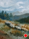 """Mountain Landscape Oil Painting by Northern California Artist Mark Webster by Mark Webster Oil ~ 24"""" x 18"""""""