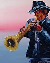 "Jazz #1 Acrylic Painting by Mark Webster Acrylic ~ 20"" x 16"""