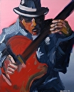 "Jazz #3 Acrylic Painting by Mark Webster Acrylic ~ 20"" x 16"""