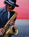 "Jazz #4 Acrylic Painting by Mark Webster Acrylic ~ 20"" x 16"""