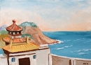 "Virtual Paintout Shek O Headland Rd, Hong Kong - Oil Painting by Mark Webster Oil ~ 5"" x 7"""