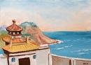 "Virtual Paintout Shek O Headland Rd, Hong Kong - Oil Painting by Mark Webster Oil ~ 5"" x 7"""