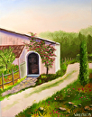 """Tuscan Villa in Siena Oil Painting by Northern California Artist Mark Webster by Mark Webster Oil ~ 14"""" x 11"""""""