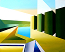 """The Cubist Creek Acrylic Painting by Northern California Artist Mark Webster by Mark Webster Acrylic ~ 16"""" x 20"""""""