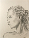 "Jenni 31.4 - Portrait Drawing by Northern California Artist Mark Webster by Mark Webster Graphite ~ 12"" x 9"""