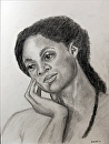 """Maxine 15.1 - Portrait Drawing by Northern California Artist Mark Webster by Mark Webster Graphite ~ 12"""" x 9"""""""