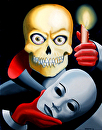 """Unmasked - Skull Oil Painting by Northern California Artist Mark Webster by Mark Webster Oil ~ 14"""" x 11"""""""