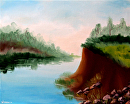 """Daily Painters Blog - Untitled River Landscape Oil Painting by Northern California Artist Mark Webster by Mark Webster Oil ~ 8"""" x 10"""""""