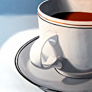 Mark Webster - Coffee Cup Oil Painting 11.12.10 by Mark Webster Oil ~ 24 x 24