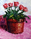 "Palette Knife Flower Pot Acrylic Painting 11.16.10 by Northern California Artist Mark Webster by Mark Webster Acrylic ~ 10"" x 8"""