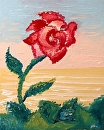 "Mark Webster - Abstract Rose Oil Painting by Mark Webster Oil ~ 10"" x 8"""