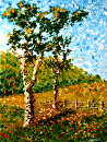 "Mark Webster - Northern California Artist - Abstract Tree Landscape Acrylic Painting by Mark Webster Acrylic ~ 12"" x 9"""