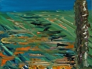 """Abstract Landscape Acrylic Painting by Northern California Artist Mark Webster by Mark Webster Acrylic ~ 6"""" x 8"""""""
