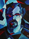 Daily Painters Blog - Abstract Self Portrait by Artist Mark Webster by Mark Webster  ~  x