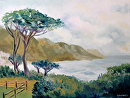 "Lower Kloof Road, Cape Town, South Africa Oil Painting by Artist Mark Webster by Mark Webster Oil ~ 9"" x 12"""