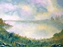 "Misty Landscape Oil Painting by Artist Mark Webster by Mark Webster Oil ~ 6"" x 8"""