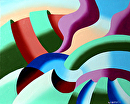 "Mark Webster - The Modern Landscape 1.0 Abstract Oil Painting by Mark Webster Oil ~ 8"" x 10"""