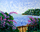 "Mark Webster - Impressionist French Riviera Seascape Acrylic Landscape Painting by Mark Webster Acrylic ~ 8"" x 10"""