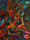 "Mark Webster - My Earliest Abstract Paintings 1 - The Gargoyle - Abstract Figurative Acrylic Painting by Mark Webster Acrylic ~ 24"" x 18"""