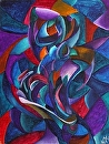 "My Earliest Abstract Paintings 2 - The Aria - Abstract Figurative Acrylic Painting by Mark Webster Acrylic ~ 24"" x 18"""