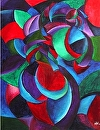 "Mark Webster - My Earliest Abstract Paintings 3 - Untitled Abstract Figurative Acrylic Painting by Mark Webster Acrylic ~ 24"" x 18"""