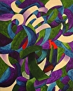 "Mark Webster - My Earliest Abstract Paintings 5 - Exosaddle - Abstract Acrylic Painting by Mark Webster Acrylic ~ 20"" x 16"""
