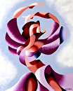 "Mark Webster - Plexus 2 - Abstract Figurative Gesture Oil Painting by Mark Webster Oil ~ 10"" x 8"""