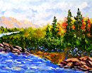 "Mark Webster - Impressionist Landscape - Abstract Acrylic Painting by Mark Webster Acrylic ~ 8"" x 10"""