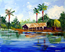 "Mark Webster - Island Landscape Acrylic Painting by Mark Webster Acrylic ~ 8"" x 10"""