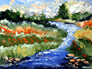 "Mark Webster - Impressionist Landscape Oil Painting by Mark Webster Oil ~ 9"" x 12"""