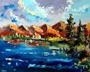"""Mark Webster - Untitled Impressionist Landscape Oil Painting by Mark Webster Oil ~ 16"""" x 20"""""""