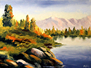 "Mark Webster - Untitled Landscape Oil Painting by Mark Webster Oil ~ 6"" x 8"""