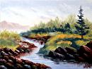 """Mark Webster - Untitled Landscape Oil Painting by Mark Webster Oil ~ 6"""" x 8"""""""