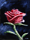 "Impressionist Rose Still Life Oil Painting by Mark Webster Oil ~ 12"" x 9"""