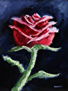 "Impressionist Rose #3 Still Life Oil Painting by Mark Webster Oil ~ 12"" x 9"""