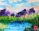 """Palette Knife Landscape Oil Painting 2012-03-22 by Mark Webster Oil ~ 8"""" x 10"""""""