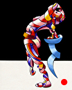"""Mark Webster - Becca 208.08 - Abstract Geometric Futurist Figurative Acrylic Painting by Mark Webster Acrylic ~ 20"""" x 16"""""""