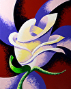 Abstract Geometric Rose Oil Painting 2012-08-15 by Mark Webster Oil ~ 10 x 8