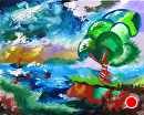 Abstraction 16 - Abstract Landscape Oil Painting by Mark Webster Oil ~ 8 x 10