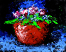 Palette Knife Flowers Still Life Oil Painting by Mark Webster Oil ~ 8 x 10