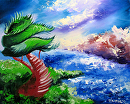 Abstraction 18 - Abstract Landscape Oil Painting by Mark Webster Oil ~ 8 x 10
