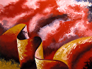 Abstraction 19 - Abstract Landscape Oil Painting by Mark Webster Oil ~ 9 x 12