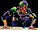 Dave C. 11.04 - Abstract Geometric Futurist Figurative Oil Painting by Mark Webster Oil ~ 16 x 20