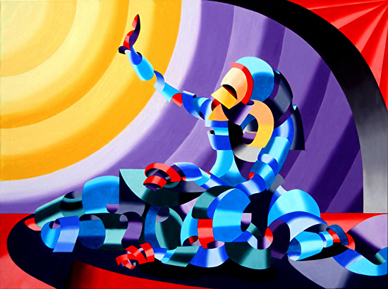 """Mark Webster - Jesse and Shandra - Abstract Nude Figurative Oil Painting by Mark Webster Oil ~ 36"""" x 48"""""""