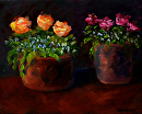 "Flower Still Life Oil and Acrylic Painting 247 by Artist Mark Webster by Mark Webster Oil and Acrylic (Mixed Media) ~ 8"" x 10"""