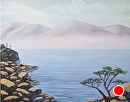 Mountain Lake with Manzanita Landscape Oil Painting by Northern California Artist Mark Webster by Mark Webster Acrylic ~ 11 x 14